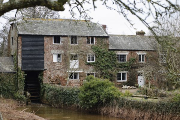 Exterior view of Clyston Mill, Killerton, Devon.