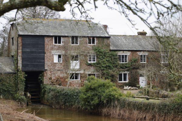 Exterior view of Clyston Mill, Killerton, Devon.